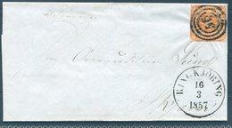 1857 DENMARK RINGKJOBING WRAPPER - 1851-63 (Frederik VII)
