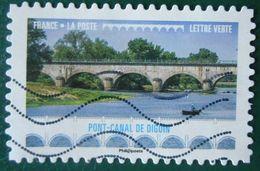 1469 France 2017 Oblitéré Autoadhésif  Ponts Et Viaducs Pont Canal De Digoin - Adhésifs (autocollants)