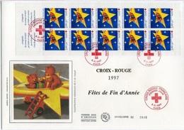 Bo304 Grande Enveloppe Croix-Rouge 1997 Bande Carnet 06/11/1997 - FDC