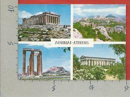 CARTOLINA VG GRECIA - ATHENS - Ancient Monument - Vedutine Multivue - 10 X 15 - ANN. 1969 - Grecia