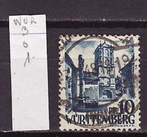 Allemagne Wurtemberg - Germany - Deutschland 1947-48 Y&T N°3 - Michel N°3 (o) - 10p Porte De Wangen - Zone Française