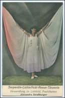 N8427/ Serpentin-Lichteffekt-Revue Tänzerin Variete Alex. Straßburger AK Ca.1910 - Andere Sammlungen