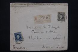 BRÉSIL - Enveloppe En Recommandé De Buenos Aires Pour La France En 1896 , Affranchissement Bicolore - L 23058 - Brésil