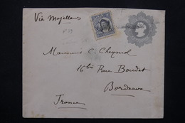 CHILI - Entier Postal + Complément Pour La France En 1908 - L 23059 - Chili