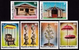 Malediven ,1975, 561/66, Historische Kunstgegenstände Und Gebäude. MNH ** - Malediven (1965-...)