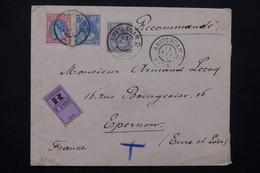 PAYS BAS - Enveloppe En Recommandé De Amsterdam Pour La France En 1902 , Affranchissement  Tricolore - L 23061 - Periode 1891-1948 (Wilhelmina)