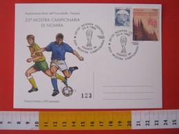 A.09 ITALIA ANNULLO - 1998 NOVARA MOSTRA CAMPIONARIA CALCIO FOOTBALL COPPA MONDO FRANCIA '98 - Calcio