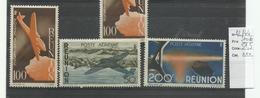 Réunion, YT P.A. N° 42/ 44 Neufs*** Cote 51€50 - Airmail