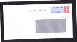 Entier Enveloppe SPECIMEN , Marianne De Briat Grande Fenêtre . Parfaite. - Standard Covers & Stamped On Demand (before 1995)