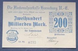 Notegeld Stadt Horneburg 200 Milliarden Mk 1923 - [11] Emissions Locales