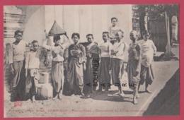 ASIE---CAMBODGE--PHNOM-PENH--Domesticité Du Palais ( Femmes) Animé - Cambodia