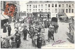 Cpa...Saint-Omer....marché Au Porcs....commerces...animée....1912... - Marchés
