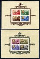 HUNGARY 1947 Rossevelt Block Pair Imperforate MNH / **.  Michel Blocks 10U-11U - Blocks & Sheetlets