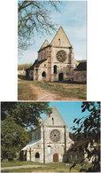 60. Gf. BONNEUIL-EN-VALOIS. Abbaye Notre-Dame De Lieu. 2 Cartes - Otros Municipios