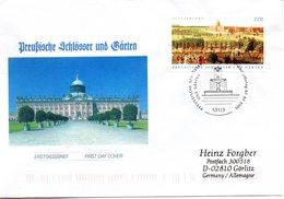 """BRD Schmuck-FDC """"Preußische Schlösser Und Gärten"""", Mi 2476 Aus Block 66  ESSt 7.7.2005 BONN - FDC: Enveloppes"""