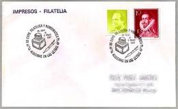 Matasellos ALGECIRAS EN LAS LETRAS - TINTERO - INKWELL. Algeciras, Andalucia, 1987 - 1931-Hoy: 2ª República - ... Juan Carlos I