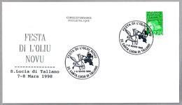 FIESTA DEL NUEVO ACEITE DE OLIVA - Festo Of The New Olive Oil. Santa Lucia Di Tallano 1998 - Alimentación