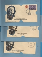 USA 1ST DAY OF ISSUE COVER 3 X ANTHONY DOLLAR 1979 D-P-S - 1979-1999: Anthony