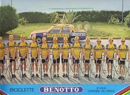 Cyclisme Carte Coureur Cycliste Equipe Samontana  Format  24 X 33 LIRE DESCRIPTION Carte + Grande Que Le Scanner - Cyclisme
