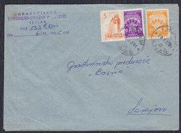 Yugoslavia 1965 Letter Franked With Definitive And Porto Stamps In Ilijas Post Office - 1945-1992 Sozialistische Föderative Republik Jugoslawien