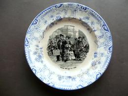 Piatto Serie Strada Ferrata Richard Marchio SCR 1880 Ferrovie Treni Ceramica - Altre Collezioni