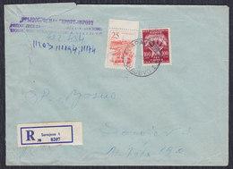 Yugoslavia 1965 R-letter Franked With Definitive And Porto Stamp, Sarajevo, Loco - 1945-1992 Sozialistische Föderative Republik Jugoslawien