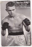 SPORT BOXE Jean Pierre SCHMITT Champion De Paris Dedicace Autographe - Boxing
