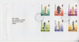 JERSEY 2004 CENTENARY BRITISH CHESS FEDERATION COVER - Ajedrez