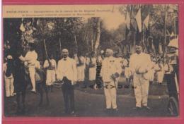 ASIE---CAMBODGE--PHNOM-PENH--Inauguration De La Statue De Sa Majesté Sisowath Le Gouverneur Général Marseillaise.... - Cambodge