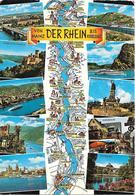 Der Rhein Von Mainz Bis Koblenz - Carte Géographique - Cartes Géographiques
