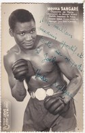 SPORT BOXE Moussa Sangare Champion De Paris Dedicace Autographe BRETONNEL - Boxe