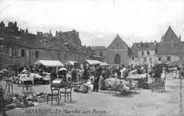 Besançon     25       Le Marché Aux Puces.  .Publicité Horlogerie       (Voir Scan) - Besancon