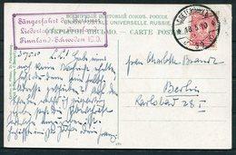1910 Russia St Petersbourg Varsovie Railway Station Postcard - Berlin. Sangerfest Berliner Lieder, Finland/Sweden Music - 1857-1916 Empire
