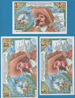 BERGERAC 2 + 5 + 10 ECU 1995  EDMOND ROSTAND Les Collectionneurs Bergeracois - Autres