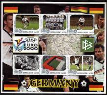 SIERRA LEONE   Feuillet   N° ( Allemagne ) * *  Euro  2000  Football  Fussball   Soccer - Championnat D'Europe (UEFA)