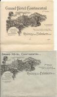 HYERES .LETTRE + ENVELOPPE GRAND HOTEL CONTINANTAL - Publicités