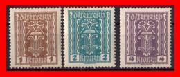 AUSTRIA (ÖSTERREICH) SELLOS AÑO 1922-24SYMBOLS OF LABOR AND INDUSTRY - 1918-1945 1. Republik