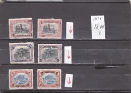 Guatemala  -  Lote  6  Sellos Con Sobrecarga Invertida    -  2/862 - Guatemala