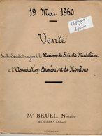 VP14.580 - MOULINS - Acte De 1960 - Vente De La Maison De Sainte Madeleine à L'Association Diocésaine De MOULINS - Vieux Papiers