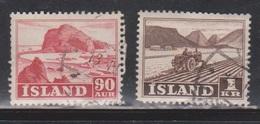 ICELAND Scott # 263-4 Used - 1944-... Republik