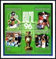 TCHAD   Feuillet  N°713/16  * *  ( Cote 6.20e ) Euro 1996  Fussball  Soccer  Football - Championnat D'Europe (UEFA)