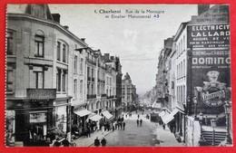 Cpa CHARLEROI  Rue De La Montagne Commerces PUB - Charleroi