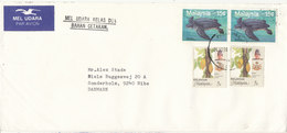 Malaysia Kelantan Cover Sent Air Mail To Denmark 24-12-1990 Topic Stamps - Malaysia (1964-...)