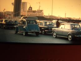 Diapositive Amateur Citroën 2 CV Simca 1000  Port De Martigues 1965 - Dias