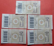 GERMANY LOT 5 X 6.70 Euro TOBACCO LABELS 20 Zigarren - [7] Federal Republic