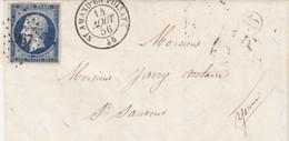 LETTRE. 1856. NIEVRE. ST AMAND-EN-PUYSAYE. PC 2967. BOITE RURALE B. POUR ST SAUVEUR - Marcophilie (Lettres)