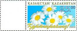 Kazakhstan 2004 . Congratulation!  Flowers. MNH - Kazajstán