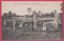 ASIE--INDOCHINE---CAMBODGE--KOMPONG-CHAM---Lions Et Garudas Défendant L'entree Du Temple De Vat-Nokor - Cambodge
