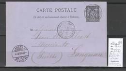 France  Cachet Paris Bureau 60- Bd Ornano - Entier Sage - Marcophilie (Lettres)