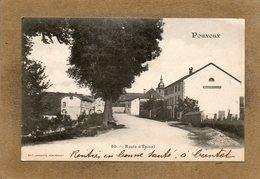 CPA - POUXEUX (88) - Aspect De La Route D'Epinal En 1906 - Pouxeux Eloyes